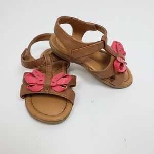 Genuine Kids Butterfly Sandals Toddler Size 5